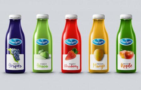 Дизайн серии упаковки для сока