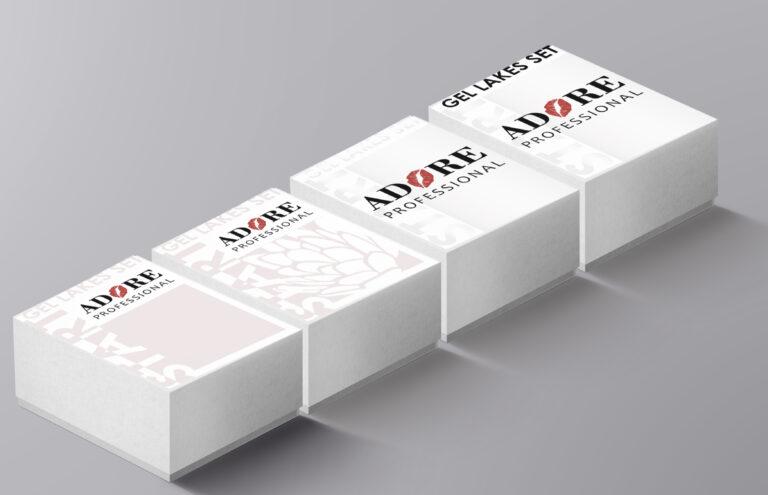 Дизайн упаковок для гель лаков Adore Professional™