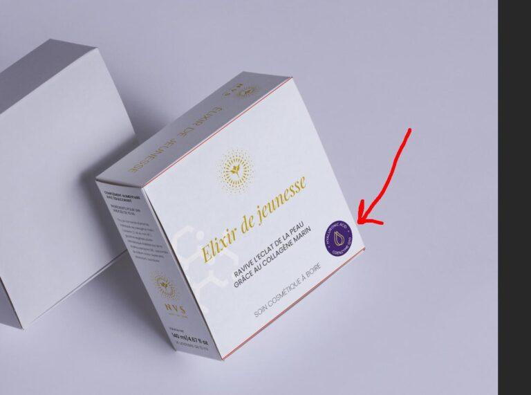Упаковка питьевой антивозрастной косметики
